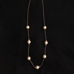 J. Crew large pearl necklace